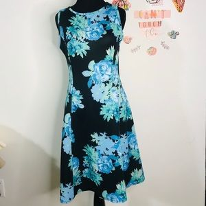 New York & Company dress Blue and green floral